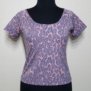 d7c049c112 Victoria s Secret Tops - VS Animal Cheetah Crop Stretch Short Sleeve ...